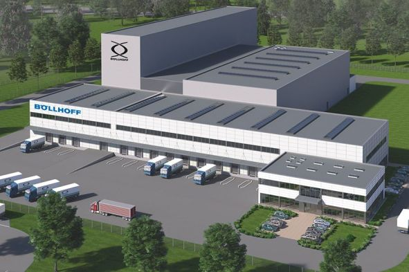Neues Böllhoff-Logistikzentrum in Oelsnitz / Vogtland