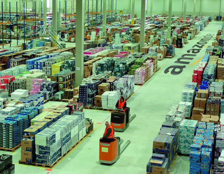 Im Logistikzentrum Leipzig der Amazon Distribution GmbH